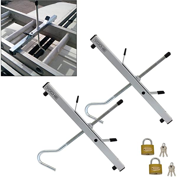 Securely Transport Your Ladders Car Van Roof Rack Ladder Clamps with Padlocks Pair of Ladder Roof Clamps for Car Universal Secure Lockable Clamps