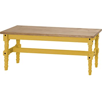 Phenomenal Manhattan Comfort Jay Collection Traditional Wooden Dining Table Bench With Trim Finish Yellow Wood Machost Co Dining Chair Design Ideas Machostcouk