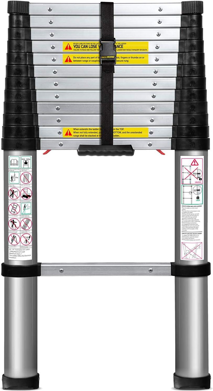 3. OxGord Aluminum Telescopic Extension Ladder