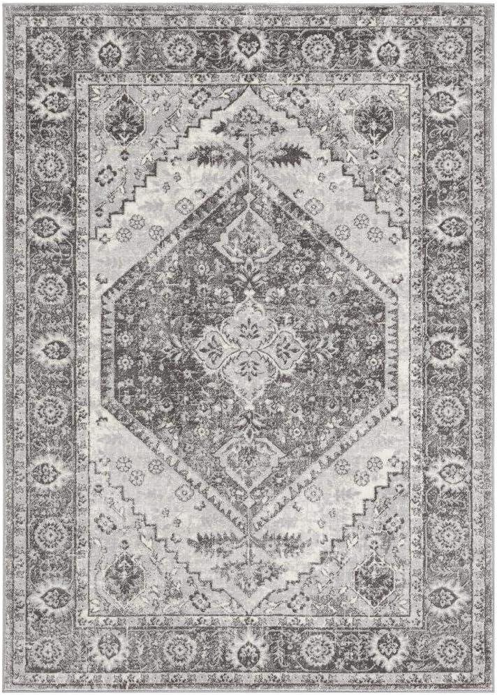 Luxe Weavers Oriental Gray 5x7 Area Rug Amazon Co Uk Kitchen Home