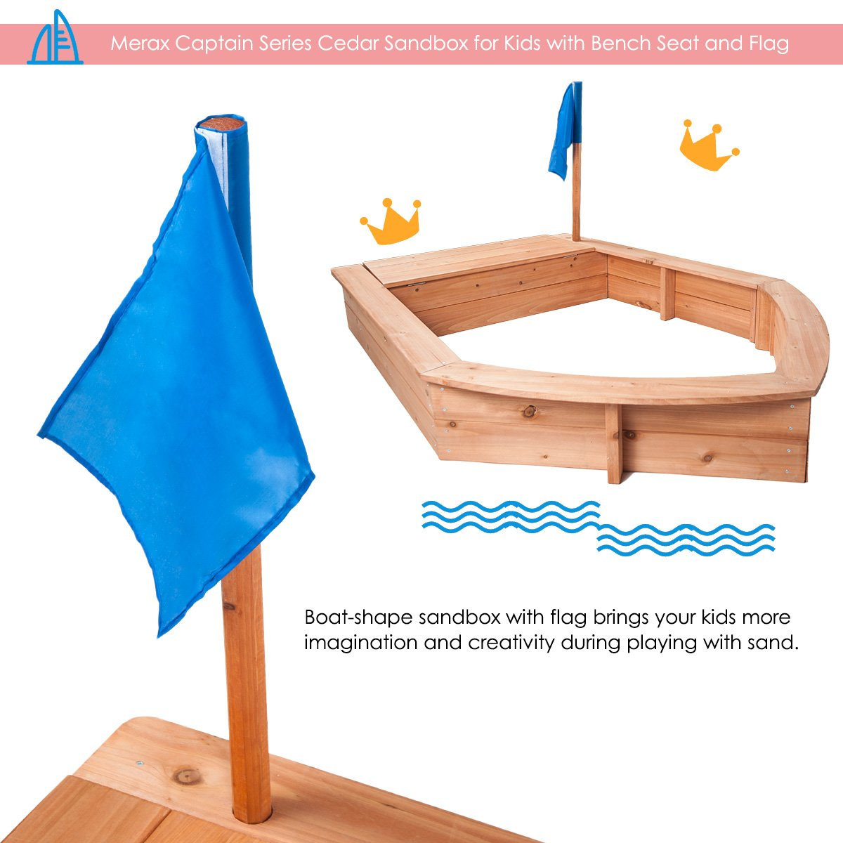 Amazing Amazon Com Merax Captain Series Cedar Sandbox For Kids With Gamerscity Chair Design For Home Gamerscityorg