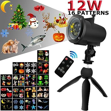 898f245d497 Luz de Proyección LED Navidad impermeable Proyectores lámpara proyector  paisaje 16 portaobjetos modello-indoor