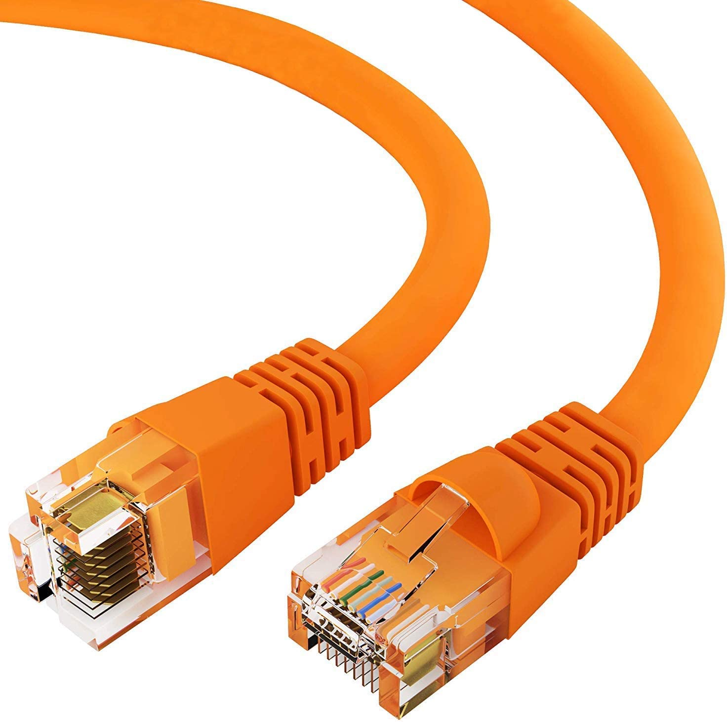 1Gigabit//Sec High Speed LAN Internet//Patch Cable GOWOS Cat5e Ethernet Cable 10-Pack - 1 Feet Gray 24AWG Network Cable with Gold Plated RJ45 Non-Booted Connector 350MHz