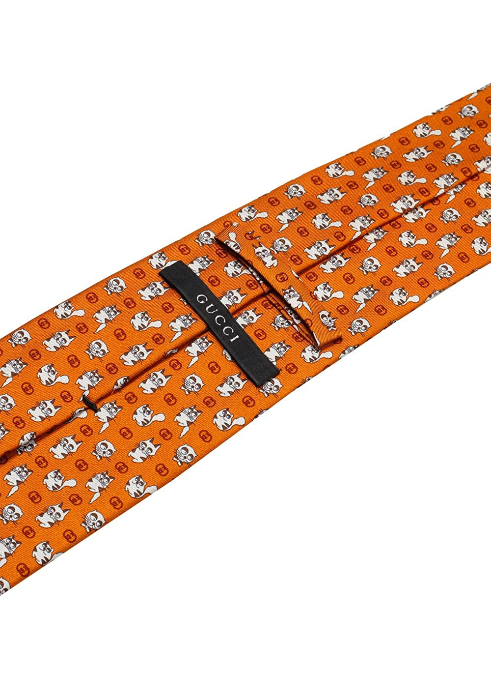 Gucci CL Orange Patterned Cat Tie: Amazon.es: Ropa y accesorios