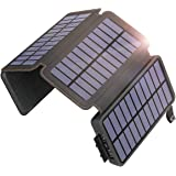 SOARAISE Solar Charger 25000mAh Solar Power Bank with 4 Foldable Solar Panels and 2 Ports, Portable Phone Charger for Outdoor