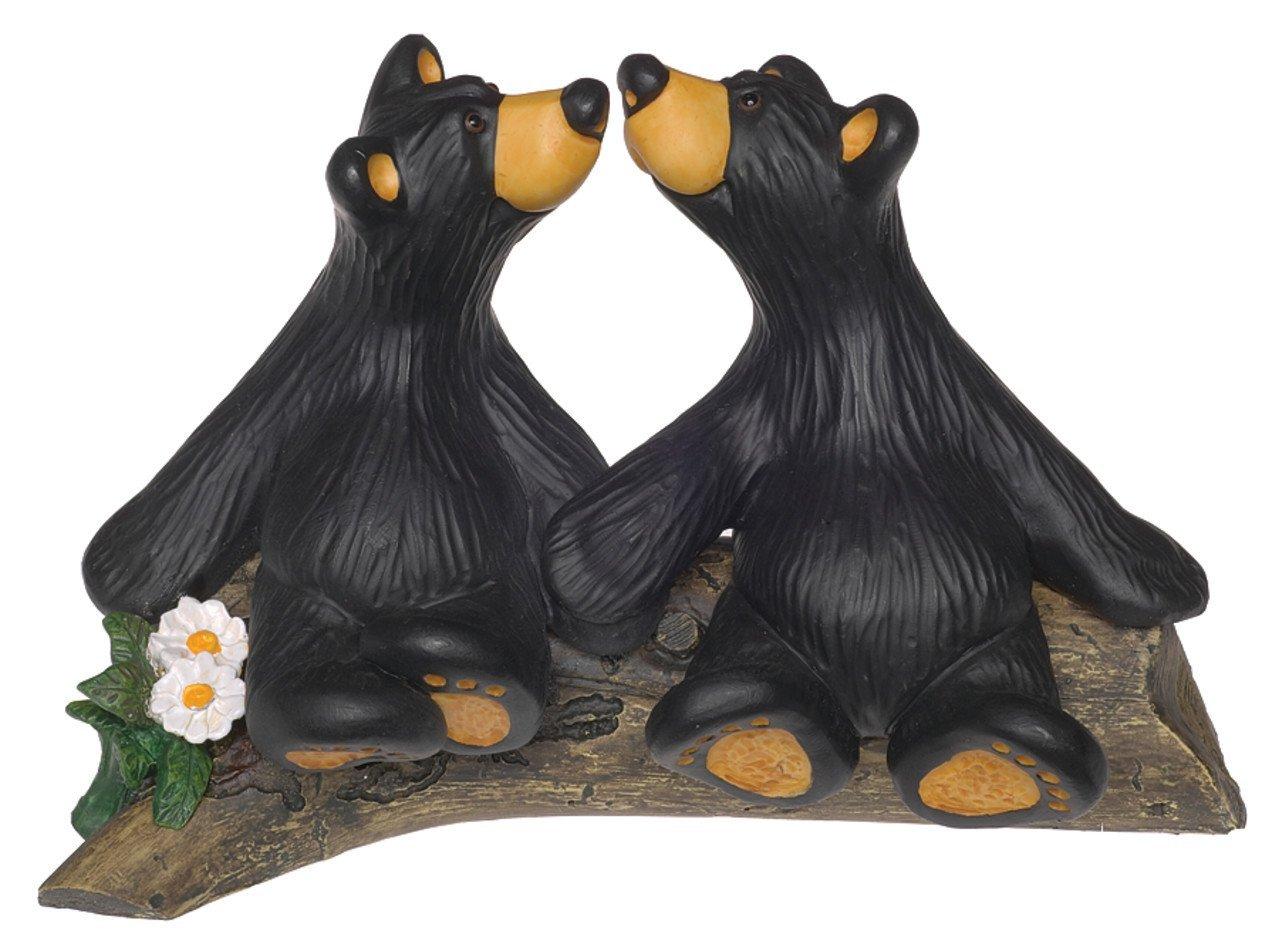 Bearfoots Kissin Black Bears Figurine Kissing Love 30150368 Jeff Fleming New Demdaco 00-Y1IFA2-53