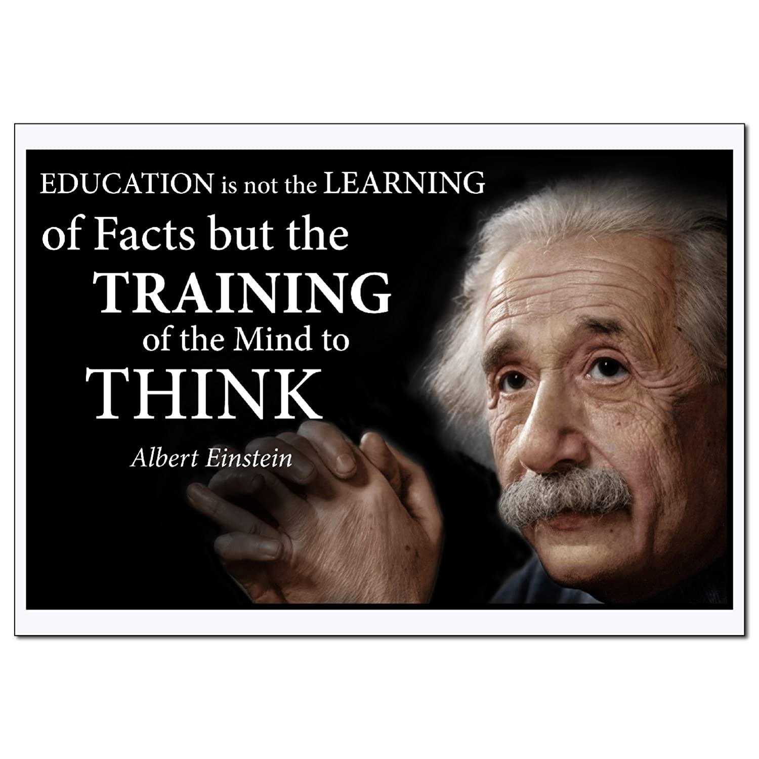 Amazon Young N Refined Albert Einstein Education Poster Quote