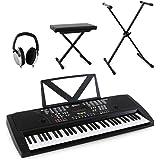 Schubert Etude-61 - Piano numérique 61 touches + stand, tabouret et casque audio (100 instruments et rythmes, 12 démos, 8 percussions)
