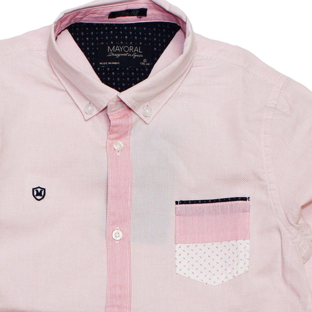 456e7f7f43ad4 Mayoral - Chemise - Garçon - rose - Taille Unique: Amazon.fr: Vêtements et  accessoires