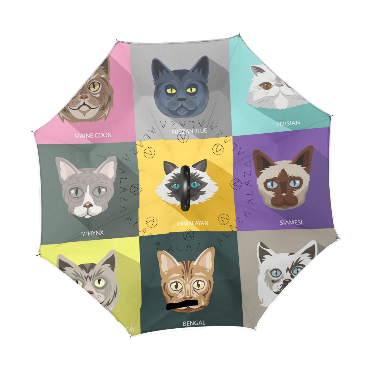 fc33fc62452a Amazon.com : imobaby Cute Cat Heads Straight Self-standing Reserve ...