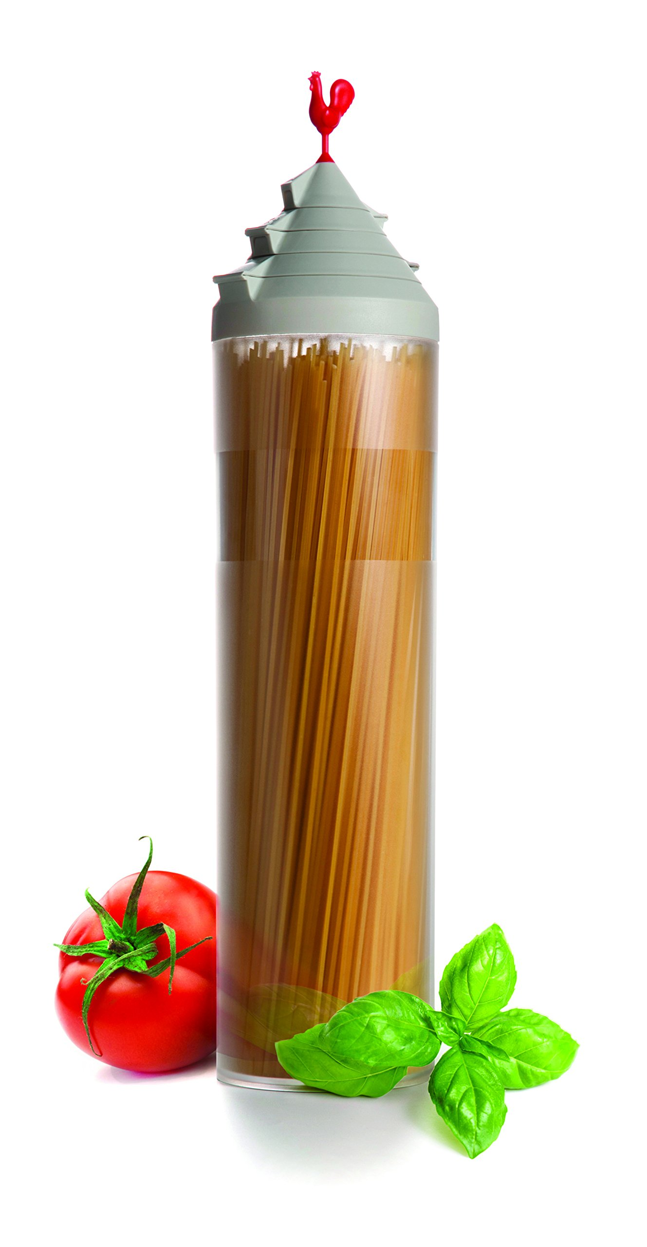 Spaghetti Tower Smart Storage Container Pasta Dispenser Jar Canister