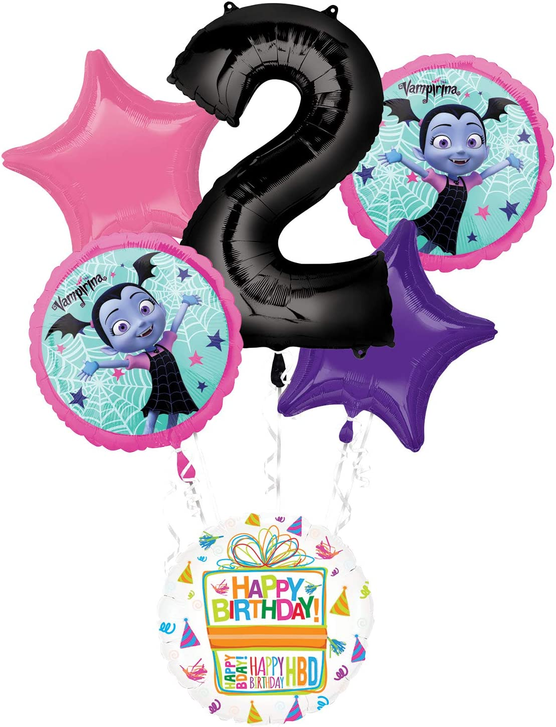 Mayflower Products Vampirina 2nd Birthday Party Supplies Balloon Bouquet Decorations