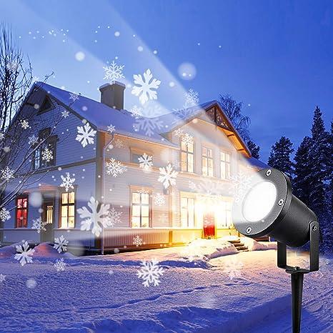Wilktop Proyector de Navidad, Led Luces de Proyector de Jardín de ...