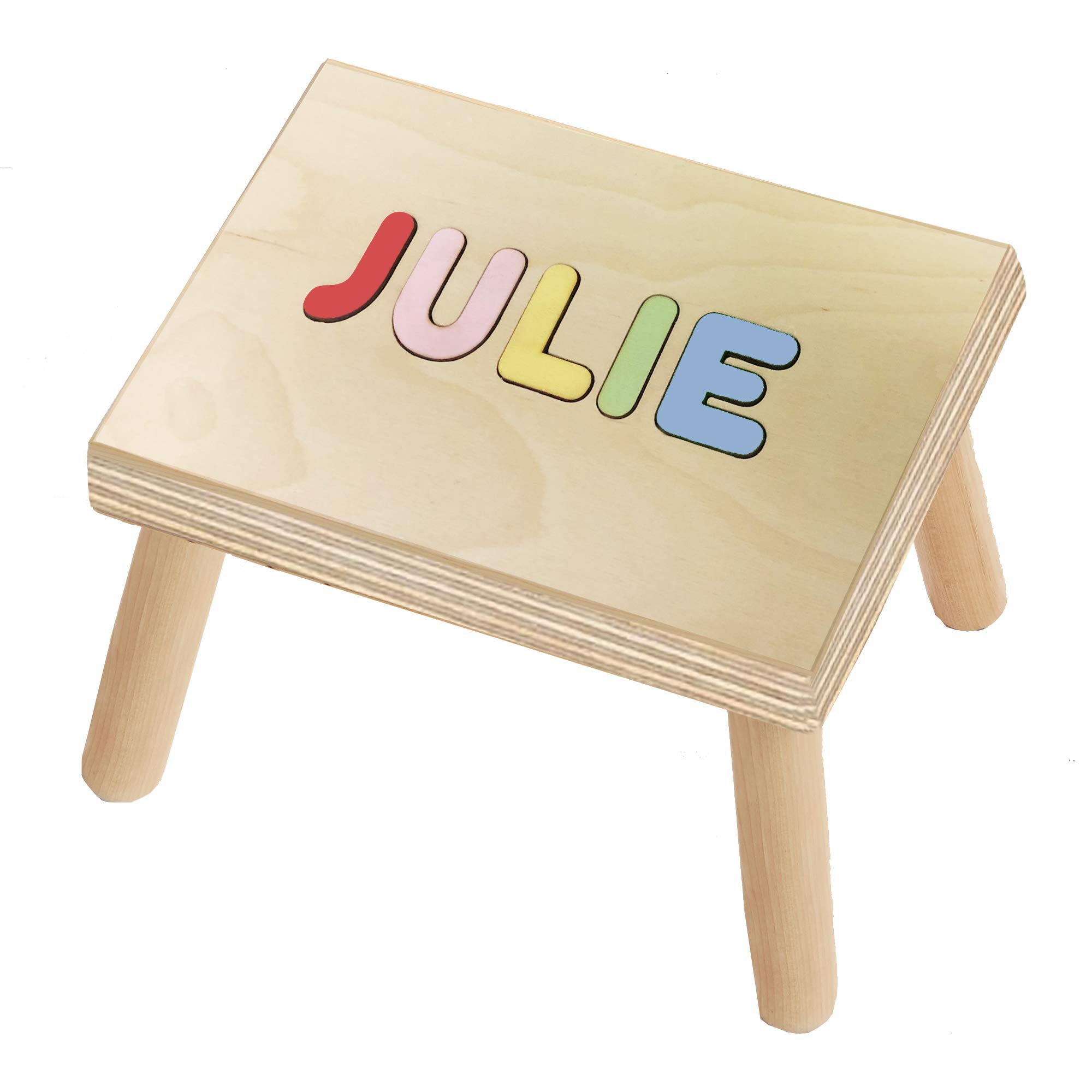 KIDZCO Wooden Personalized Name Puzzle (Stool Puzzle)