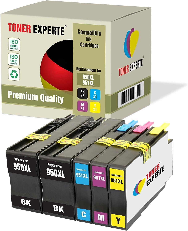 2 XL TONER EXPERTE® Compatibles con HP 950XL 950 XL CN045AE Cartuchos de Tinta para HP OfficeJet Pro 8600 8610 8620 8100 251dw 276dw 8615 8616 8625 8630 8640 8660 (2 Negro): Amazon.es: Electrónica