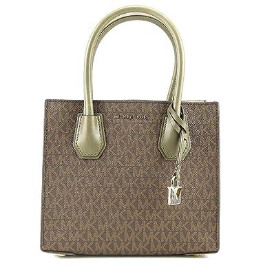 2c7107c0c7de Michael Kors Mercer Logo Crossbody - Brown/Olive - 30T7GM9M8V-247:  Handbags: Amazon.com