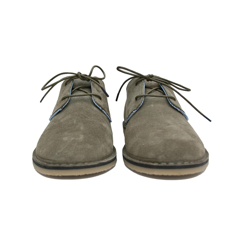 El Ganso Bajo Guerrero Ante Marron y Verde. Zapato de Cordones para Hombre. (44 EU, (Ante) Green): Amazon.es: Zapatos y complementos
