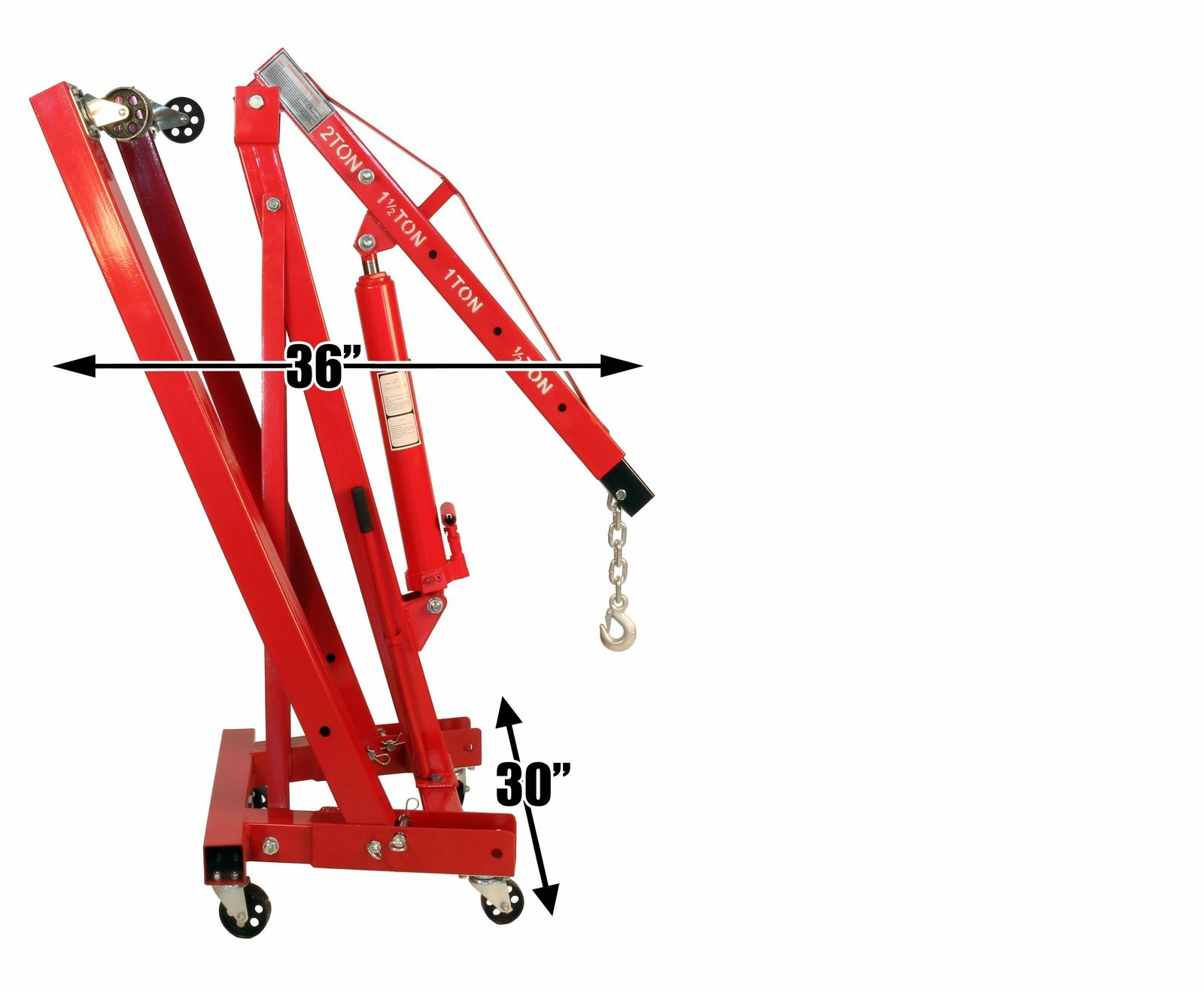 Dragway Tools 2 Ton Folding Hydraulic Engine Hoist Cherry Picker Shop Crane Hoist Lift by Dragway Tools (Image #5)