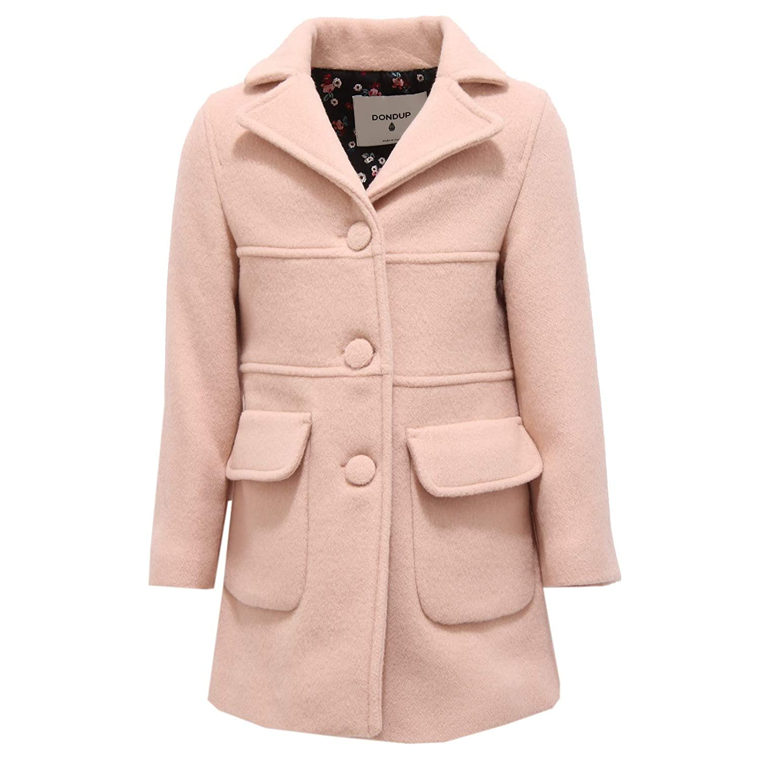 Rose M (8-10 Y) DONDUP 5987X Cappotto Bimba Girl rose Wool Cashmere veste
