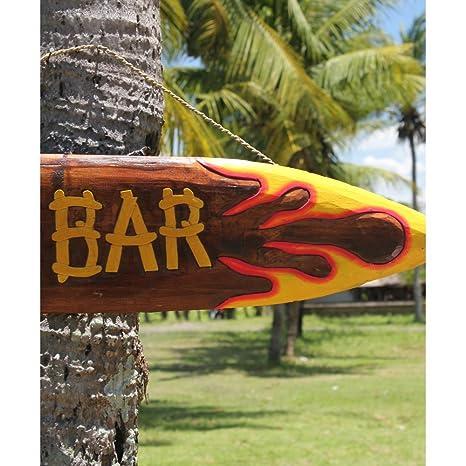 Fair-trade Surf Tiki tabla de Wiki pintado a mano con texto en inglés: Siiren: Amazon.es: Hogar