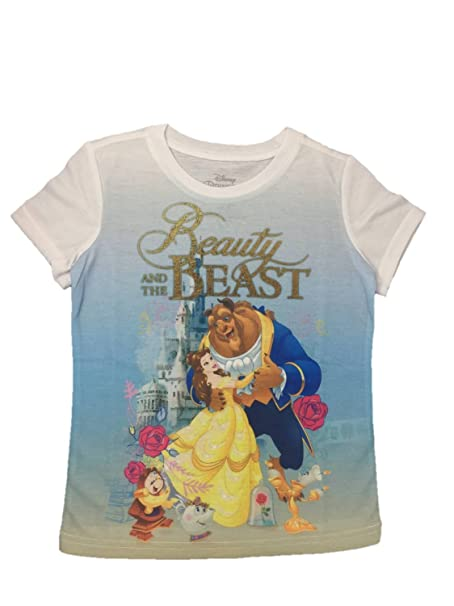 9ae5761c9 Image Unavailable. Image not available for. Color: Disney Princess Beauty  and the Beast Graphic Tee Shirt ...