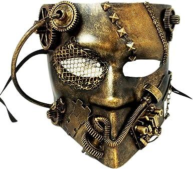Brown Leather Bauta Masquerade Mask
