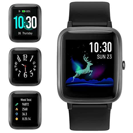 Smart Watch for Android iOS Phone, Fitness Tracker Watch Health Exercise Smartwatch with Pedometer Heart Rate Monitor Sleep Tracker IP68 Waterproof ...
