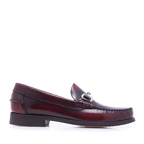 C00116 Mocasines Clasicos Piel Hombre Burdeos: Amazon.es: Zapatos y complementos