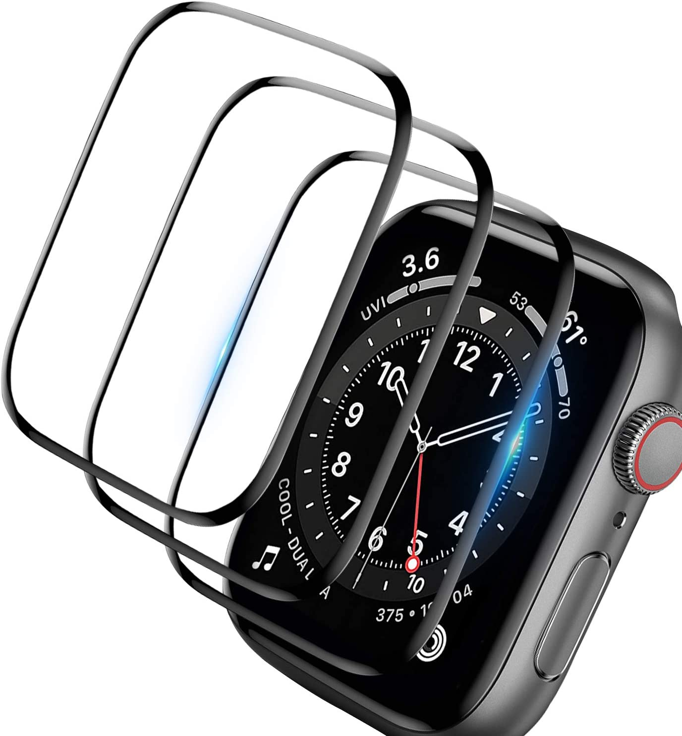[3 Pack]Screen Protector for Apple Watch Series 3/2/1 38mm, 3D Curved Edge Anti-Scratch Bubble Free HD Ultra Shatterproof Flexible Protector Film Compatible Apple iWatch Series 3/2/1