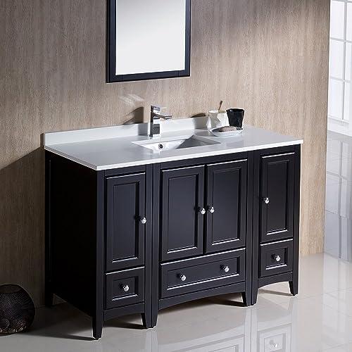 Fresca Bath FVN20-122412ES Oxford 48 Vanity with 2 Side Cabinets, Espresso