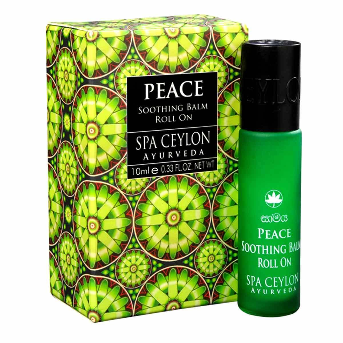 Spa Ceylon Luxury Ayurveda Peace Soothing Balm Liquid with Pure Natural Essential Oils in Convenient Travel Friendly Roll On Applicator, 0.33 Fluid Ounces