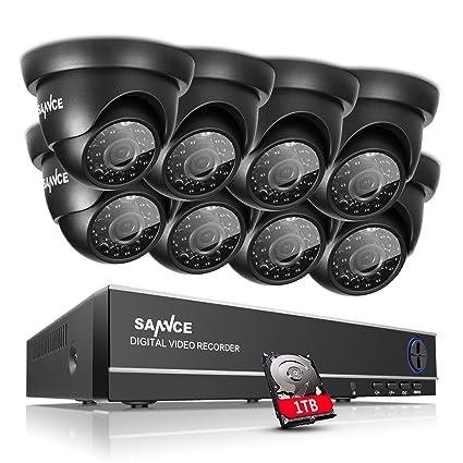 [Mejorado HD] ANNKE Kit de 8 Cámaras de Vigilancia Seguridad (Onvif H.