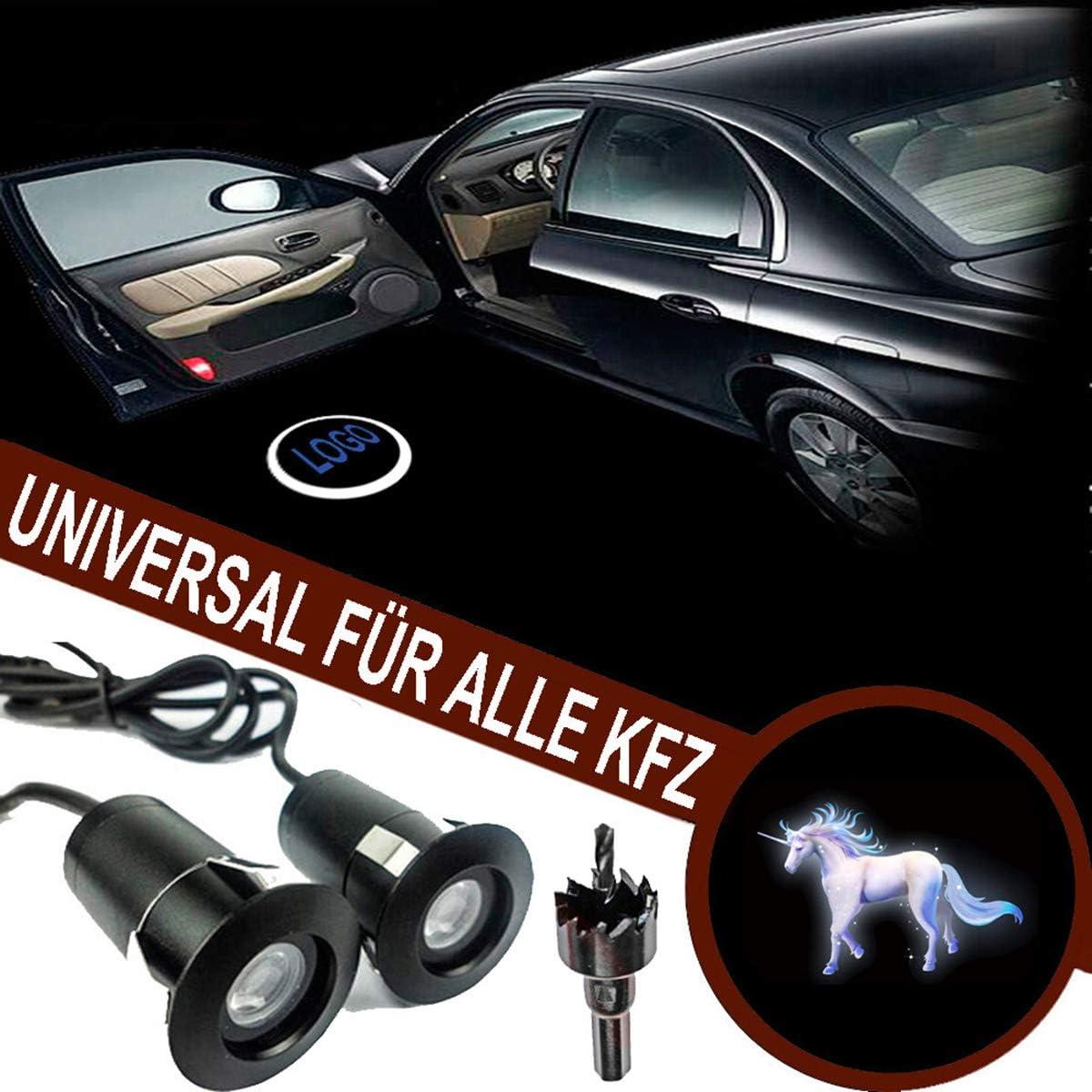 Folgemir Autotür Logo Licht 12v Led Projektor Ghost Shadow Willkommen Einstiegsbeleuchtung 5th Gen Geist Schatten Lampe Universal For Alle Kfz Auto