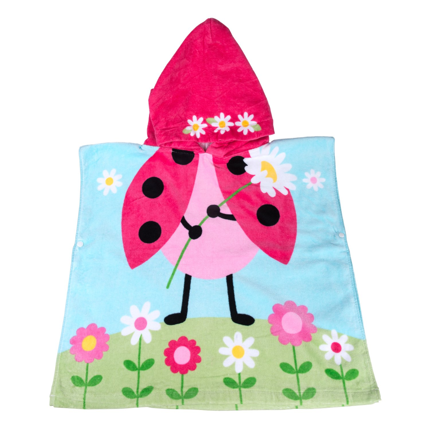 Florica Cotton Kids Childs Boys Girls Lovely Hooded Ponchos Swimming Bath Towel (Beetles) China