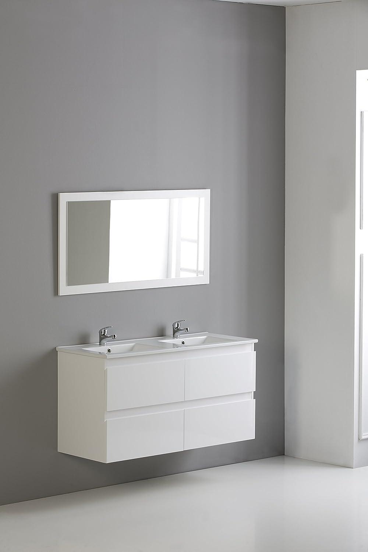 Modulintel - Conjunto De Baño Metropolis 120 Blanco - Muebles Suspendido 120