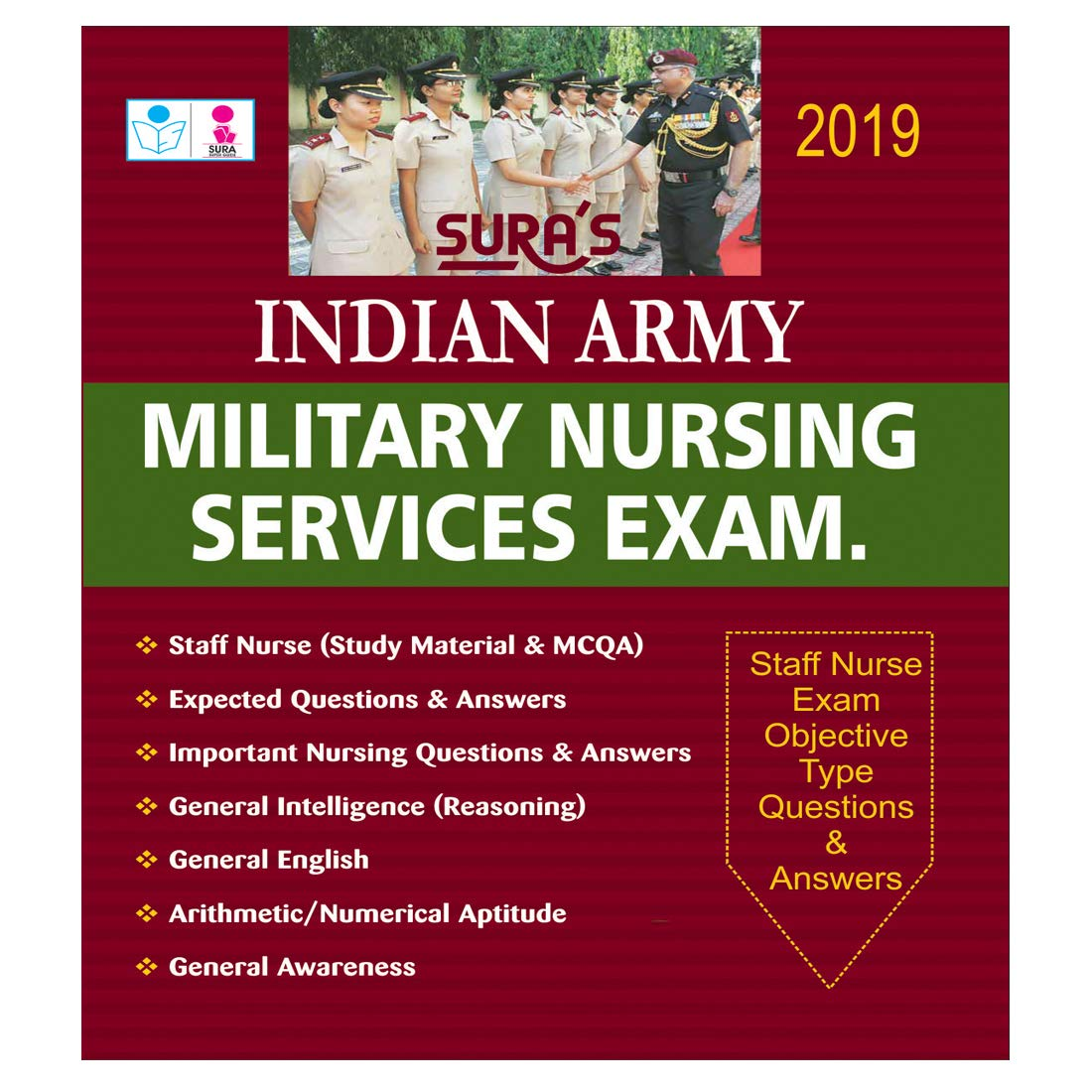 Buy Indian Army Military Nursing Service Exam Objective Type