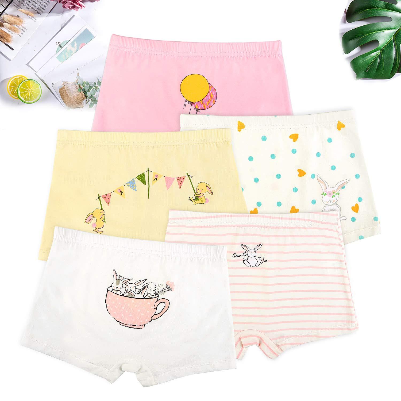 5-Pack Cat Chicken Baby Toddler Briefs Underwear Boyshort 2-10Y BOOPH Girls Panties