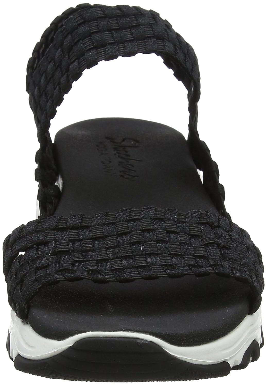 DLites-Head Spin, Sandalias de Gladiador para Mujer, Negro (Black), 35 EU Skechers