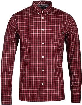 Pretty Green Camisa a Cuadros roja clásica: Amazon.es ...