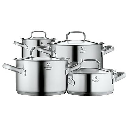 WMF Gourmet Plus Batería de Cocina, Acero Inoxidable, 4 Piezas