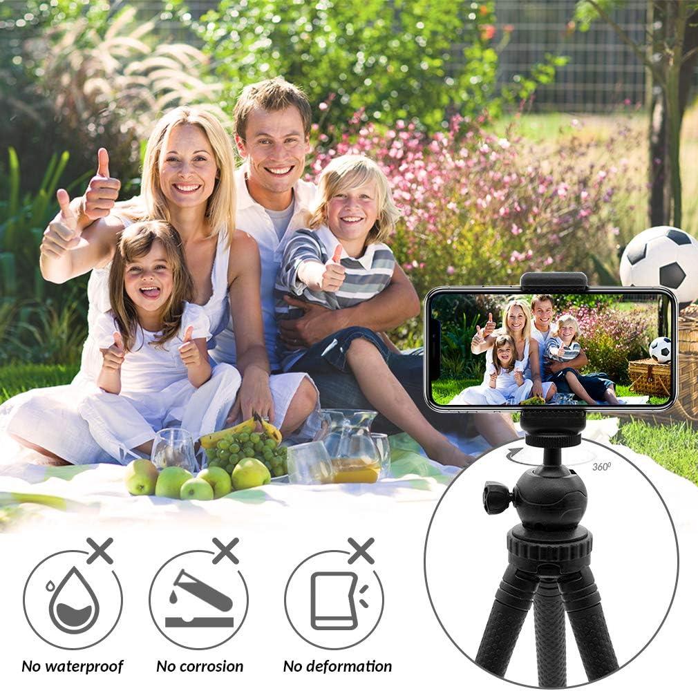 Kamera Dezuo Flexibles Mini Stativ Handy f/ür iPhone Gopro mit Universellen Smartphone Halterung und Fernbedienung iPhone