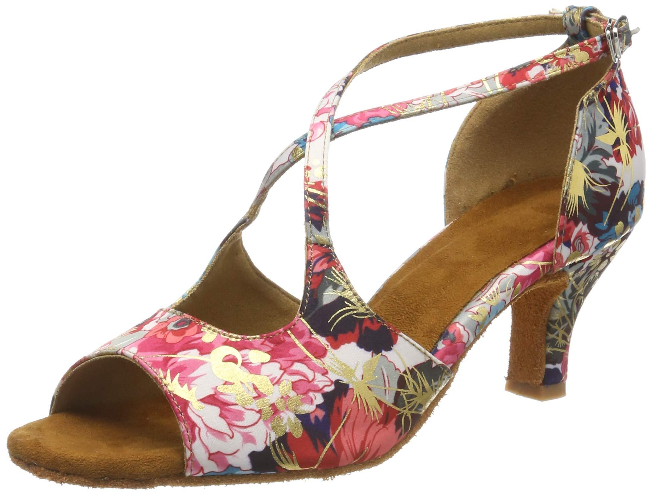 2510f5c0c0dc HXYOO Chaussures de Danse de Salon pour Les Femmes Chaussures de Salsa  Latine WK013 product image