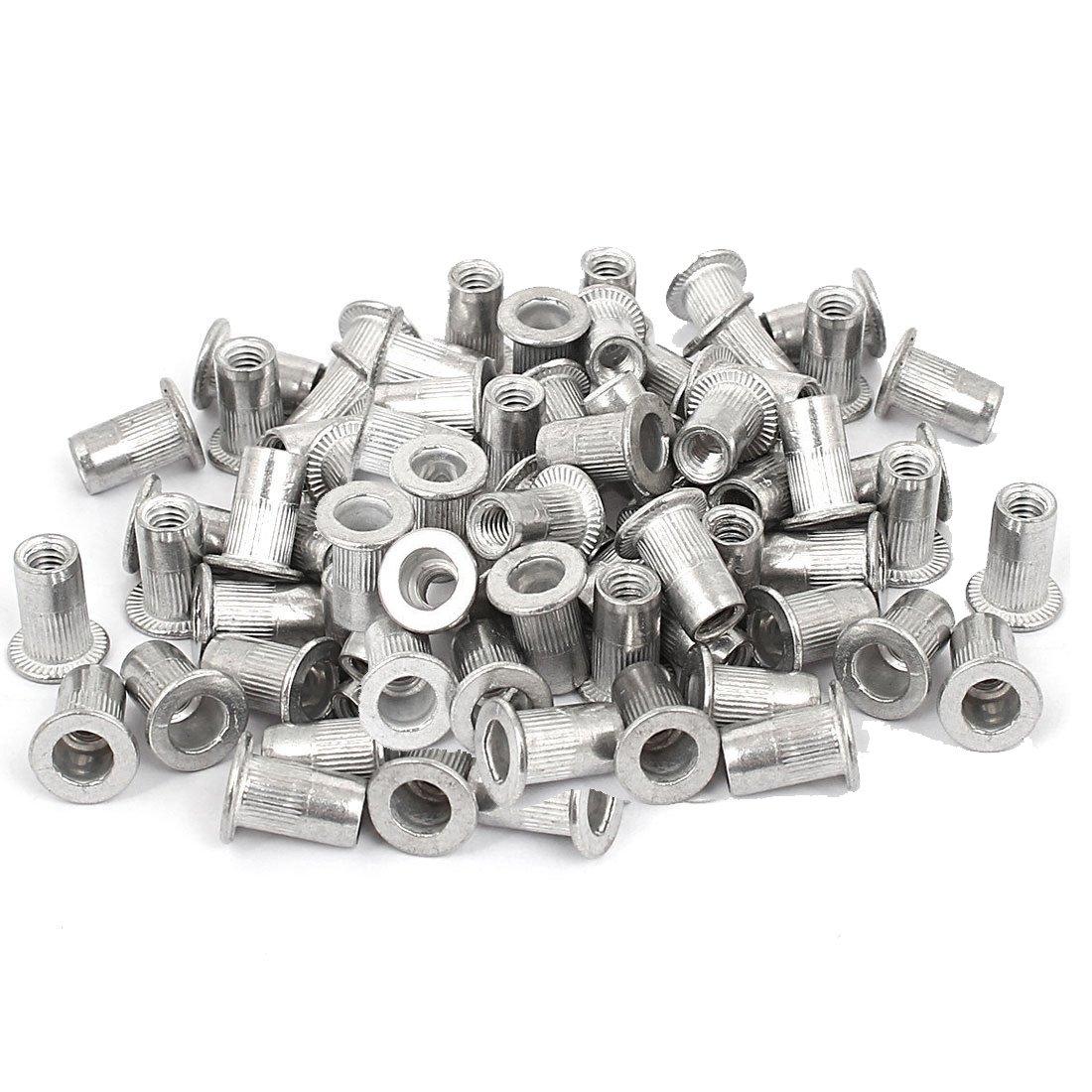 Veda 25 pcs of M5 Threaded Aluminum Rivet Nut Rivnut Insert Nutsert 5mm