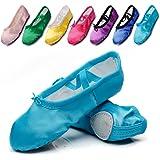 Kid Girl's Satin Practise Ballet Slipper Yoga Shoe