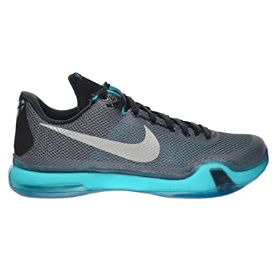 45ef4587fed13 Nike Kobe X Men s Shoes Black Metallic Silver-Radiant Emerald-Dark 705317-
