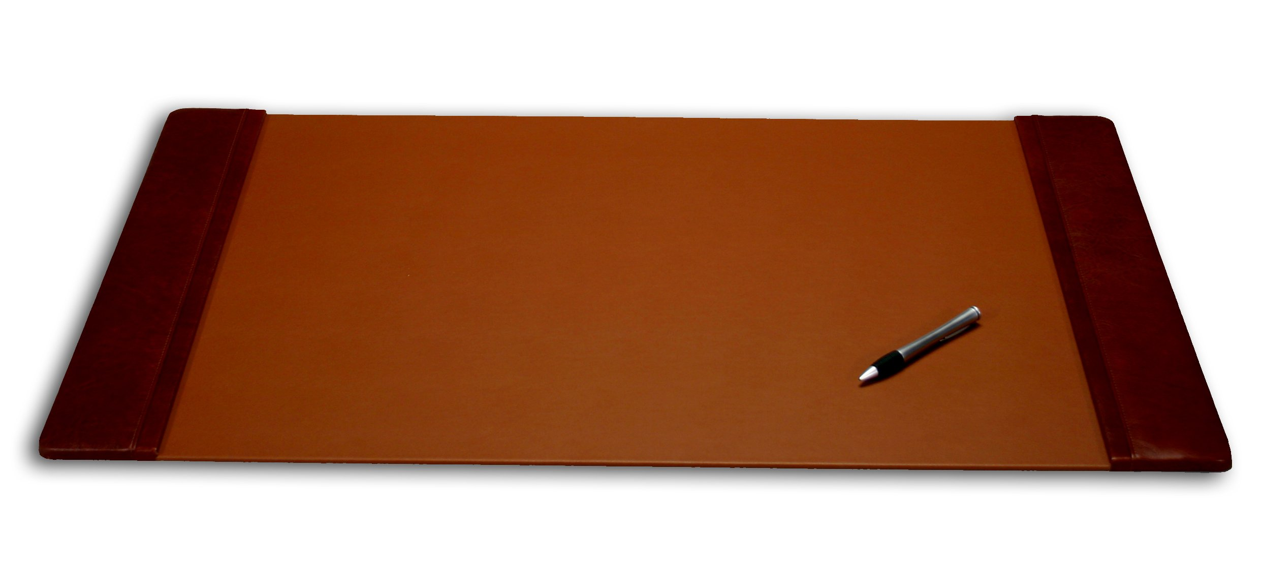 Dacasso Leather Office Desk Pad with Side Rails, 38 by 24-Inch, Mocha