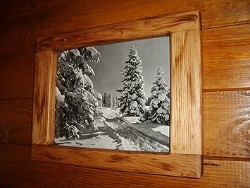 cadre artisanal en bois deco chalet montagne