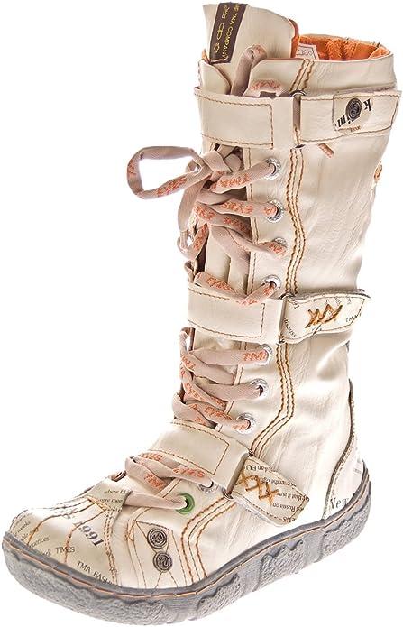 Damen Winter Stiefeletten echt Leder gefüttert Comfort Stiefel TMA 7087 Schuhe Boots Gr. 36 42, Größe:39 EU, Farbe:Rot