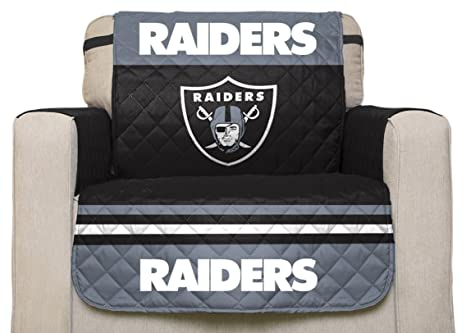 NFL Oakland Raiders Chair Reversible Furniture Protector With Elastic  Straps, 75 Inches By 65