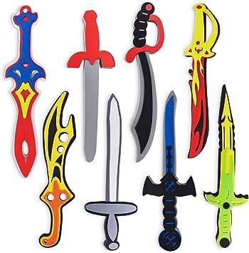 Amazon.com: Espadas de juguete surtidas de espuma para ...